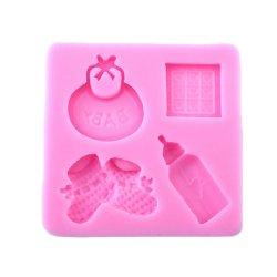 UJS Baby Silicone Mold For Fondant Cake Chocolate Decorating bottle Candy Mould (Intl)