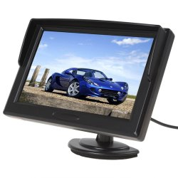 UJS Car LCD Rear View Reverse Monitor Display Black (Intl)