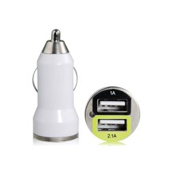UJS Dual USB Mini Car Charger (White) (Intl)