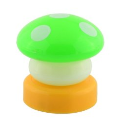 UJS Mini Mushroom Night Lamp Light (Green) (Intl)
