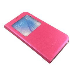 Ultra Flip PU Leather Case For Samsung Galaxy S6 (Pink)