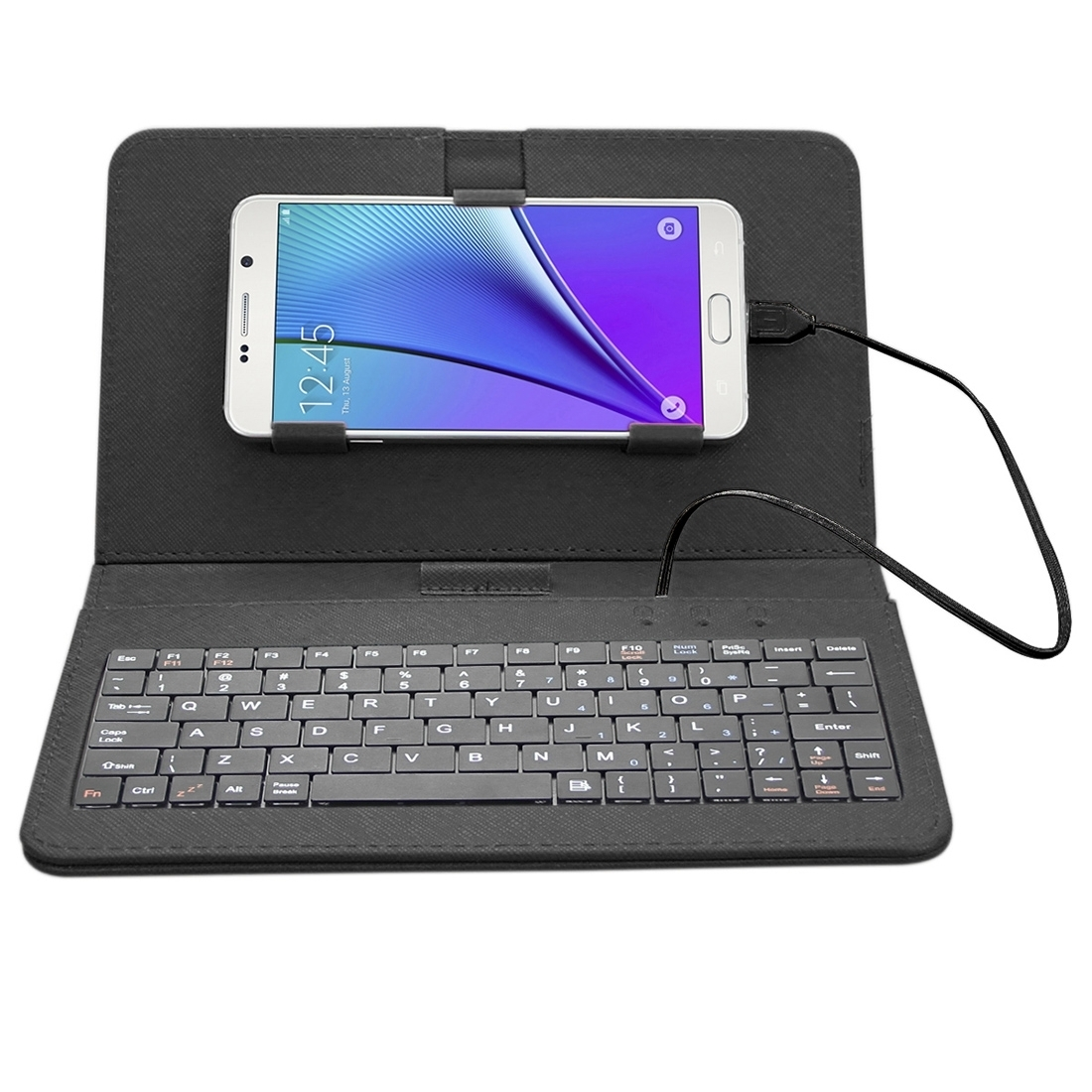 Universal Android Mobile Phone Leather Case with Keyboard (Black) - Intl product preview, discount at cheapest price