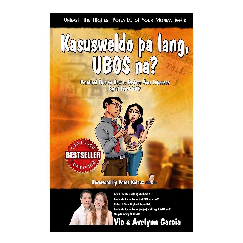 Kasusweldo Pa Lang Ubos Na? Book (Orange) by Vic and Avelynn Garcia - thumbnail