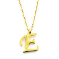 Venice Jewelry Golden 'E' Necklace and Earrings Jewelry Set (18k Gold Plated)