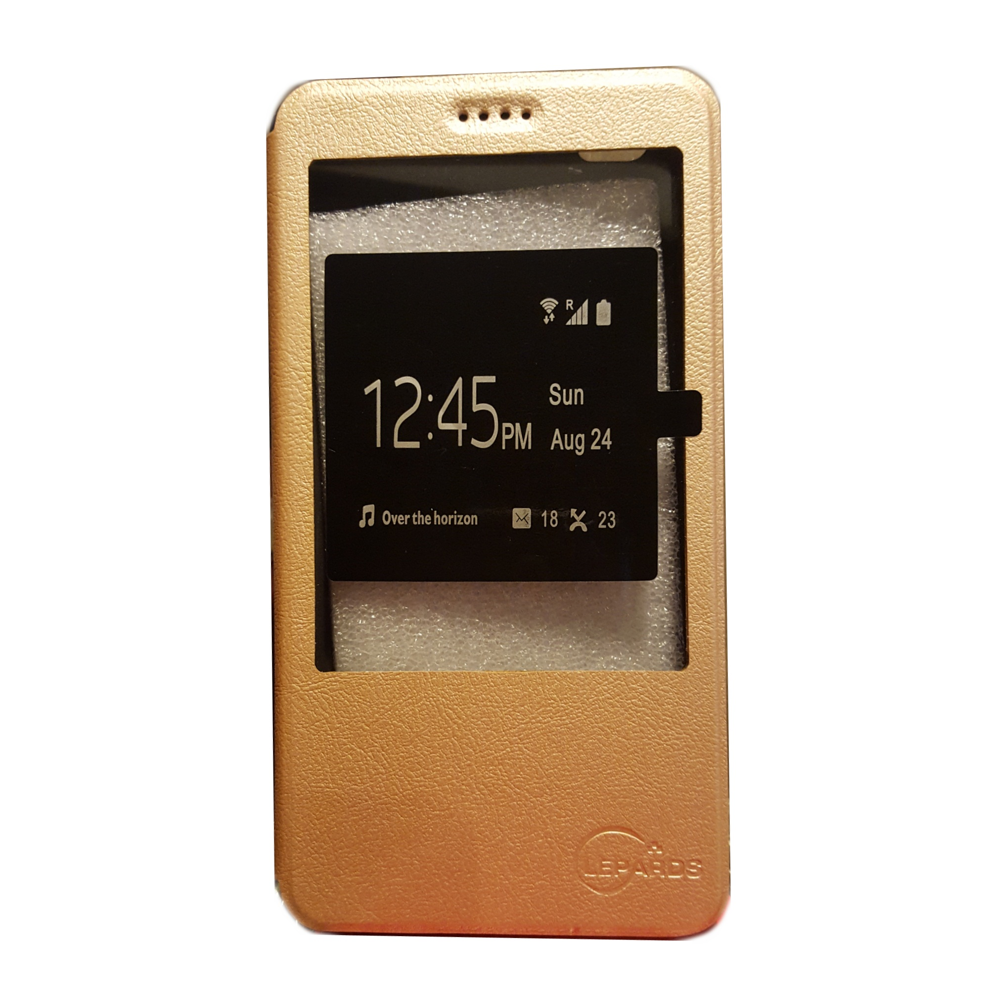 View Leather Flip Cover for Xiaomi Mi Max (Gold) product preview, discount at cheapest price