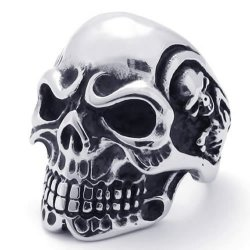Vintage Gothic Skull Biker Stainless Steel Men's Ring- INTL