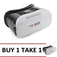645928339af6 Philippines. VR Box 3D Virtual Reality Glasses for Smartphone (White Black)  BUY 1 TAKE