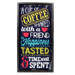 Wallmark A Cup of Coffee Wooden Poster