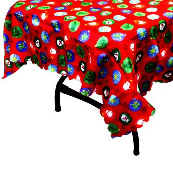 Wallmark Colorful Lights Satin Christmas Table cloth (Red)