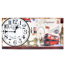 Wallmark England Symbols Rectangular Wall Clock
