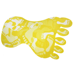 Wallmark Foot Shape Anti-slip safety Bath Mat (Yellow)