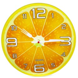Wallmark Orange Tempered Glass Wall Clock