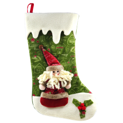 "Wallmark ""Santa Claus Home Sweet Home "" Big Christmas Stocking"