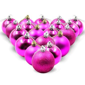 Wallmark Shatterproof Christmas Ball Ornaments Set of 20 (Pink)