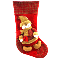 "Wallmark ""Snowman with Gold Scarf"" Big Christmas Stocking"