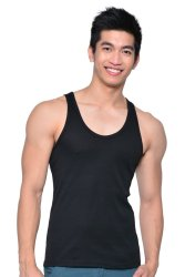 WARREN 1-1606B Undershirt Sando (Black)