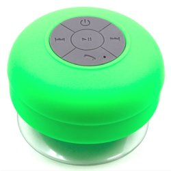 Water Resistant Silicone Bluetooth Speaker (Green)