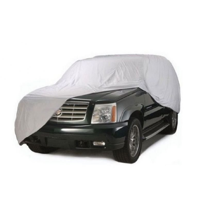 Waterproof Lightweight Nylon Car Cover for SUVs (Gray) - thumbnail