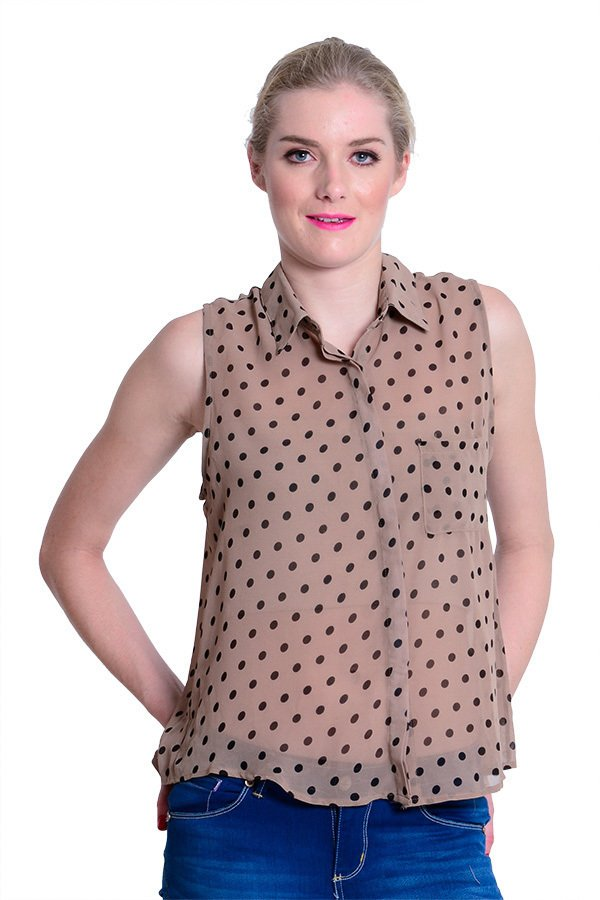 Way of Life Polkadot Top (Brown) product preview, discount at cheapest price