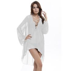 1aa09aa75 woman plus size shirt Ladies Beach dress Cover up Kaftan Sarong Summer  beachwear Swimwear Summer cover