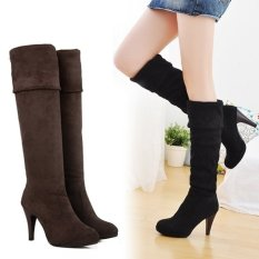 c751385c366 Women s Shoes Over the Knee Thigh Stretchy High Heels Boot Four Size Black  Brown Sexy -