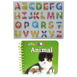 Wooden Alphabet A-Z Big Letter and Baby Book Animal 1