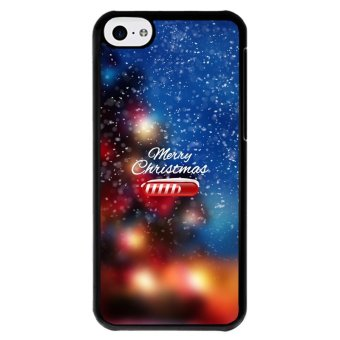 Y&M Cell Phone Case For iPhone 5c Merry Christmas Pattern Cover (Multicolor)