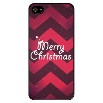 Y&M Merry Christmas Case for iPhone 4 4S (Black)