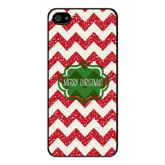 Y&M Merry Christmas Red Stripes Black berry Z10 Cover (Multicolor)