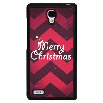 Y&M Red Merry Christmas Pattern Phone Case for RedMi Note Cover (Black)