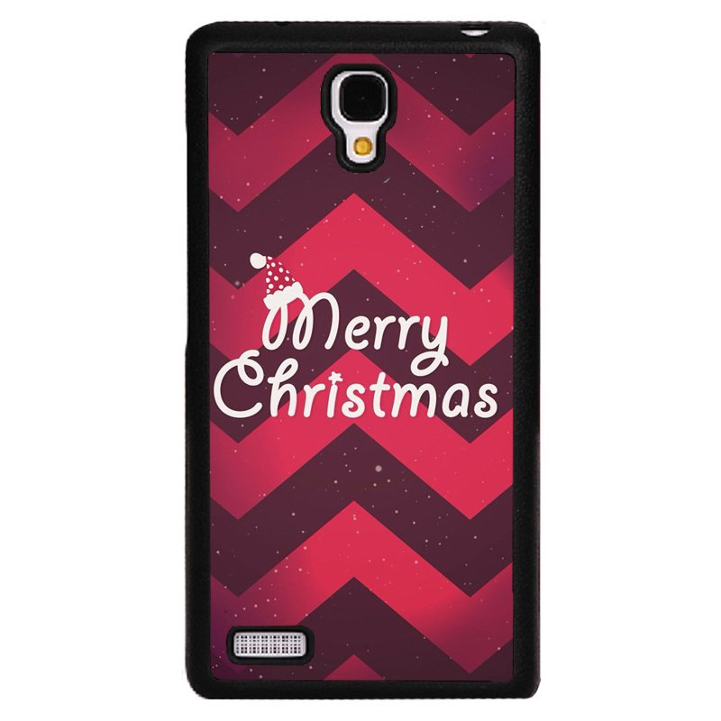 Y&M Red Merry Christmas Pattern Phone Case for RedMi Note Cover (Black) - thumbnail