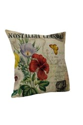 Yazilind Flower Throw Pillow Case (Multicolor)