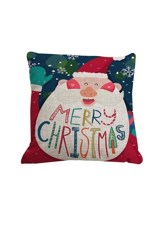 Yazilind Square Christmas Throw Pillow Case Home Decor Sofs Cushion Cover Pattern B - thumbnail