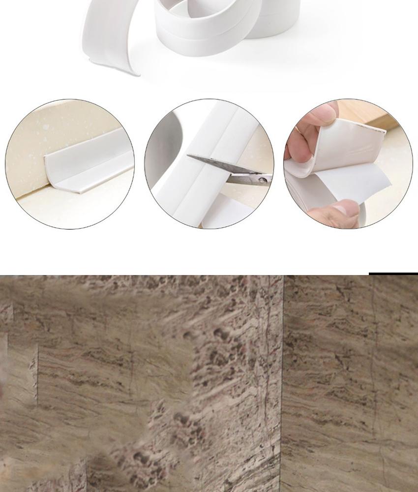 e407dc8faaa7 3.2mx3.8cm Wall Sealing Tape Home Bathroom Bathtub Kitchen PVC Material  Kitchen Bathroom Wall Sealing Tape Waterproof Mold Proof Adhesive Tape  Strip ...