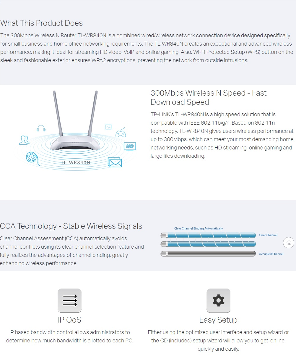TP-Link TL-WR840N 300Mbps Wireless N Router | Lazada PH