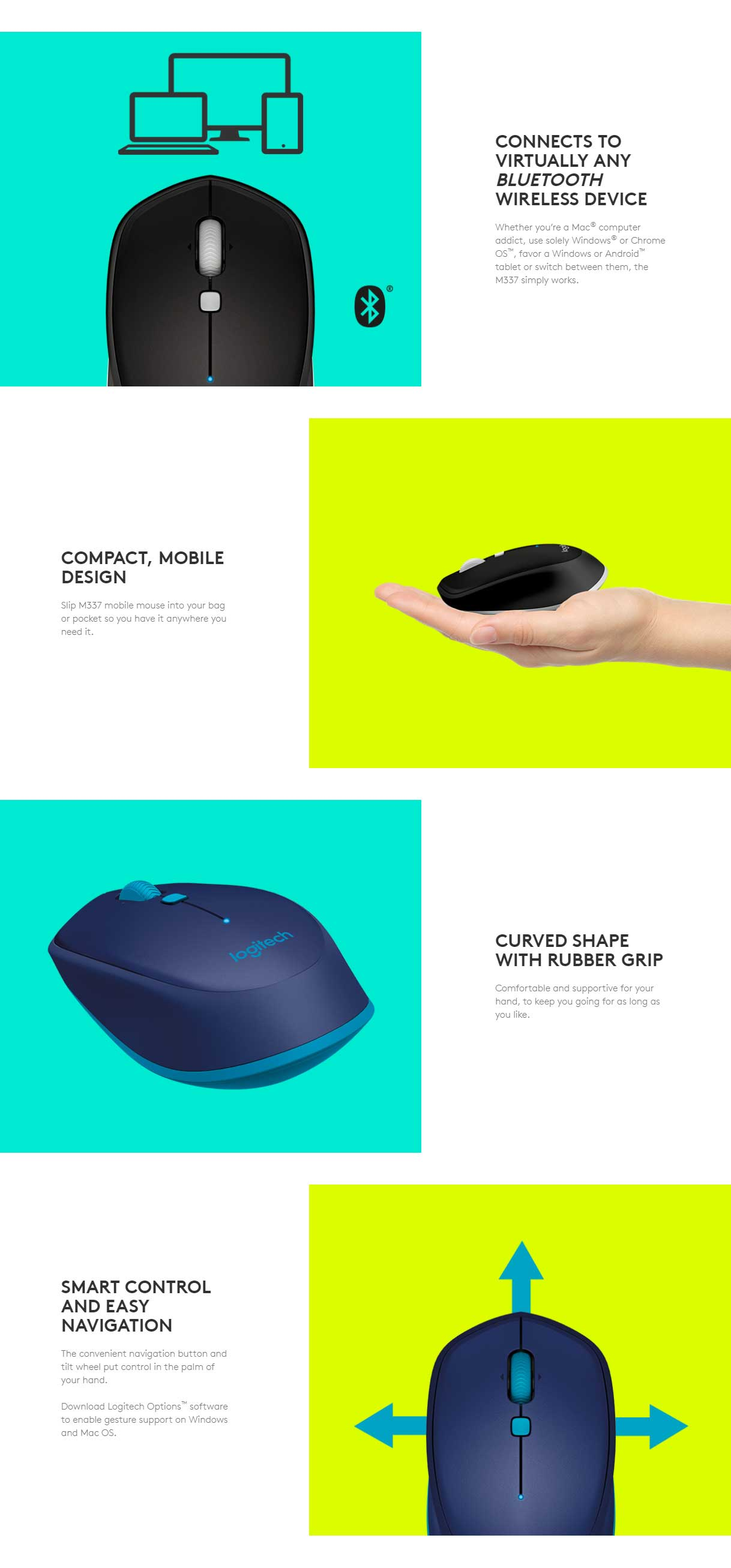 logitech bluetooth mouse for android