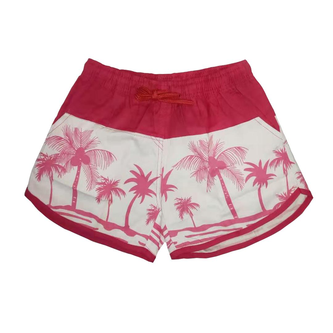 Women/'s 2XL Navy Palm Tree Elastic Waist Colorful Shorts NEW
