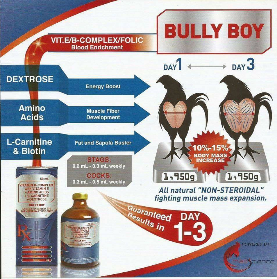 Mad Science Bully Boy 50ml for Gamefowl Rooster