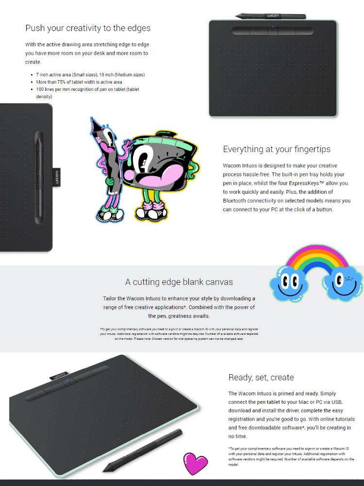 Wacom CTL-4100/K0-CX Intuos Small Pen Tablet (Black)