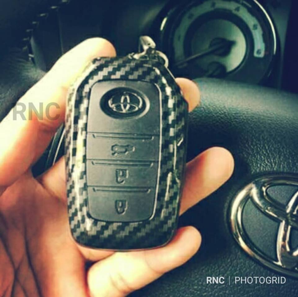Toyota Hilux Conquest Carbon Fiber Car Key Cover Keyless Entry