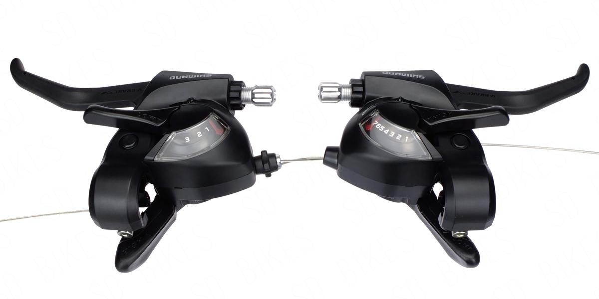 Shimano EF41 3x7-Speed Brake//Shift Lever Set Black