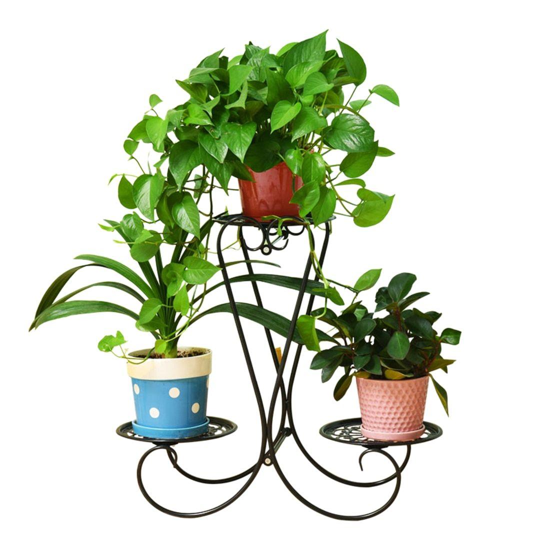 9 Tier Wrought Iron Plants Stand Metal Pot Planters Rack European Style  Plant Shelf Garden Decor