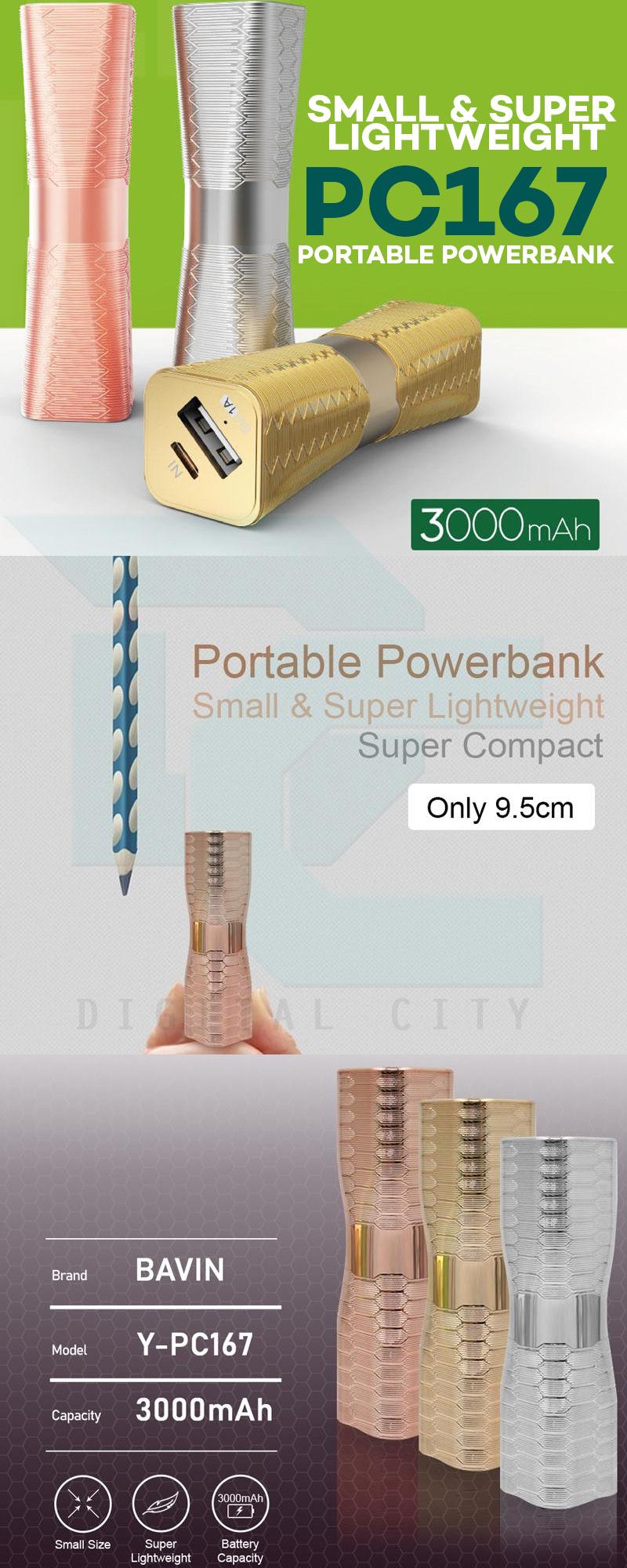 Bavin PC167 3000mah Small and Portable Power bank