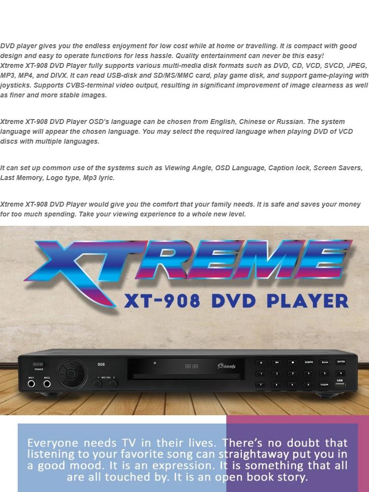 Xtreme XT-908/XT-913 MIDI DVD Karaoke Player (Black)