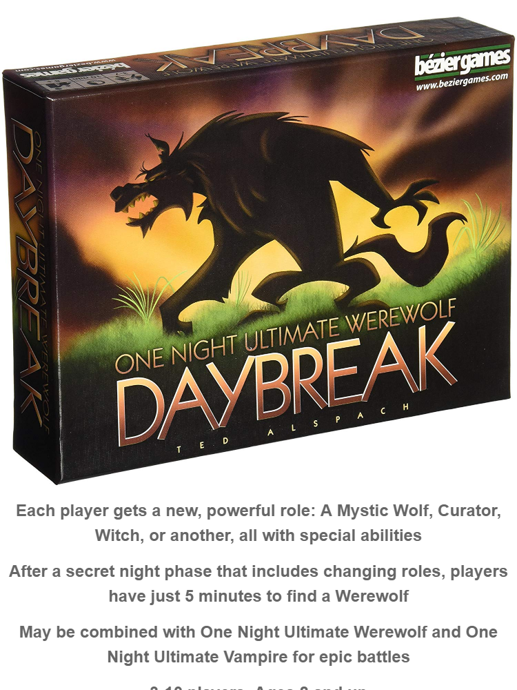 One Night Ultimate Werewolf Daybreak Card Game/ Traditional Card Game/ Paty  Card game/ toys for kids/ toys for boys/ toys for girls/ toys for adults