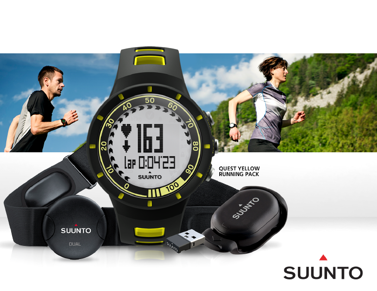 b86f25a94bb9 Product details of Suunto Quest Yellow Running Pack (SS019155000) - The  heart rate and all training tools for on and off track training