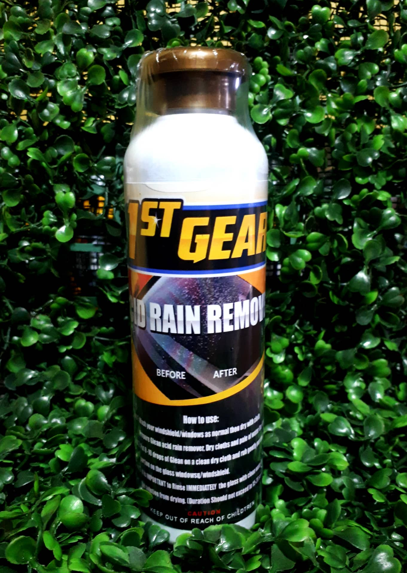 1st GEAR ACID RAIN REMOVER 250ml FREE Microfiber Cloth & Clear Gloves