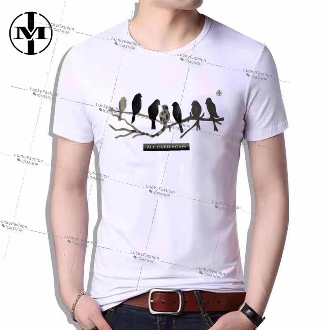 LUCKY #T190 Korean Fashion Casual TShirt for Men Clothing