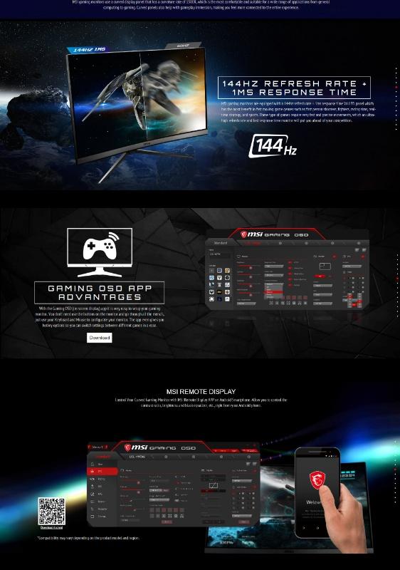 MSI Optix MAG241C Curved Gaming display 23 6