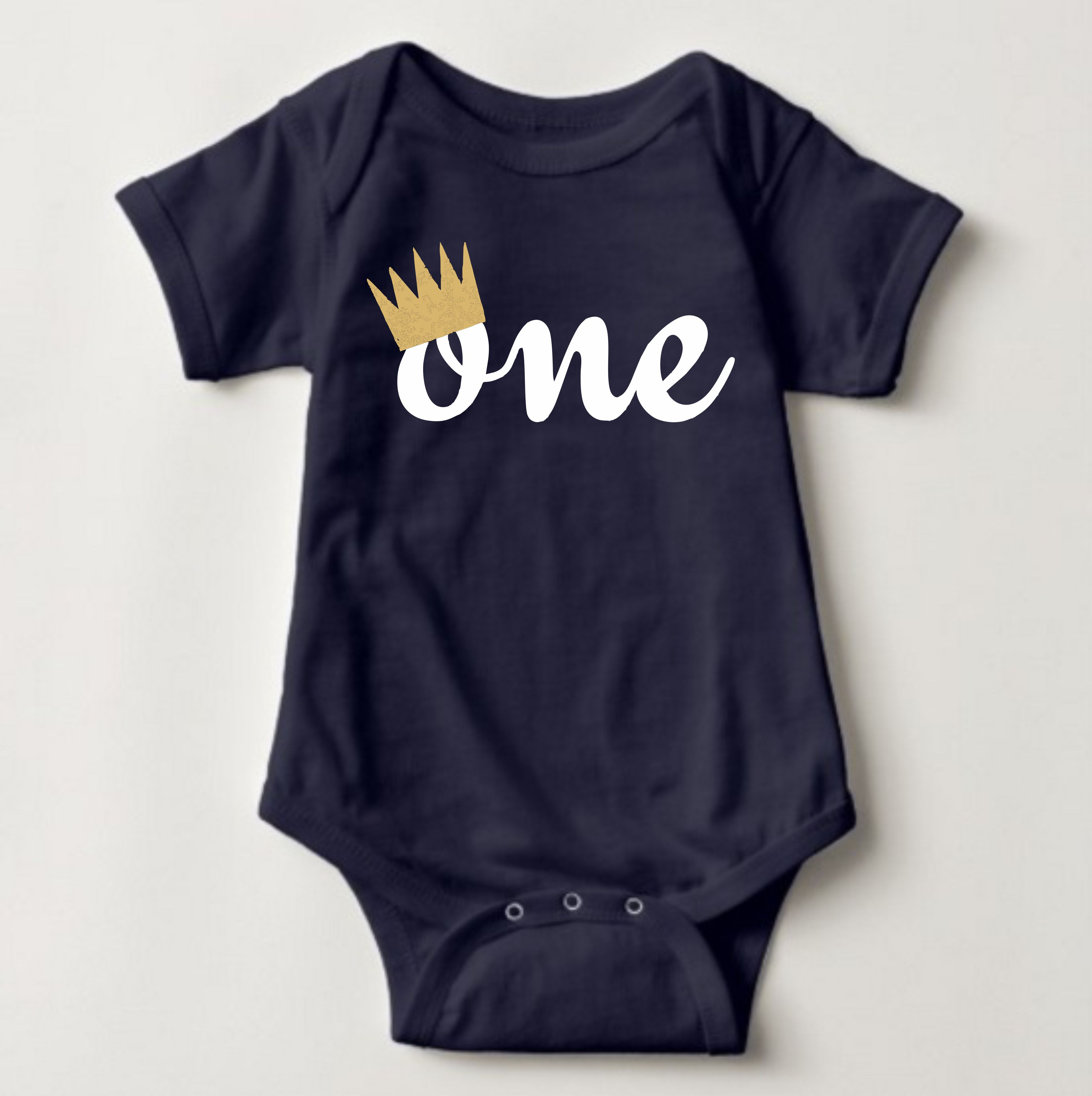 Baby Birthday Onesies - One Crown